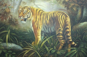 Painting of a tiger by Master Tony Chew