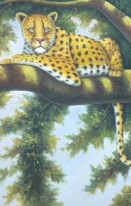 Painting of a leopard by Master Tony Chew